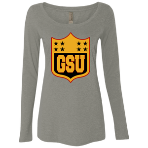 GSU Stars Ladies' Triblend LS Scoop