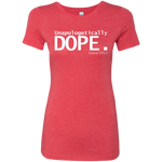 DST dope Ladies' Triblend T-Shirt Very Slim Fit- Petite
