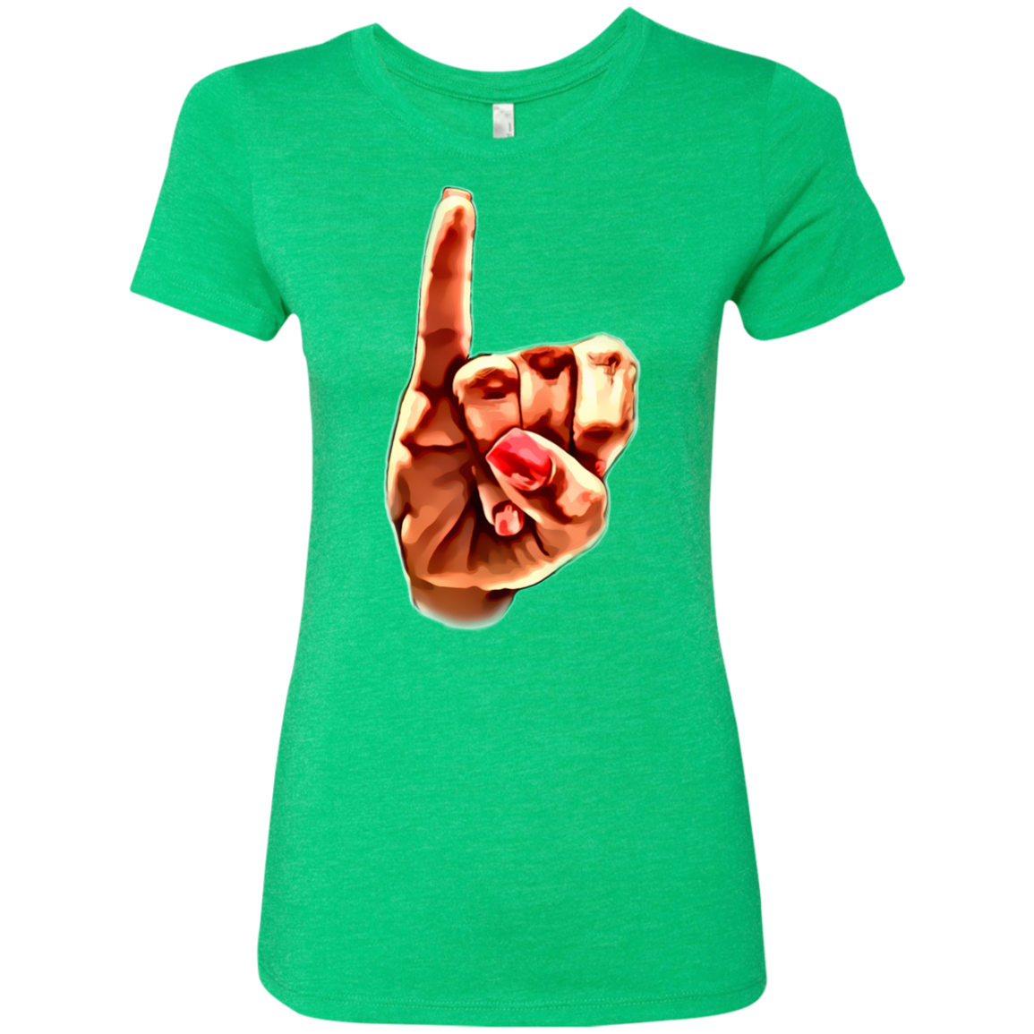 AKA Pinky Up Ladies' Triblend T-Shirt