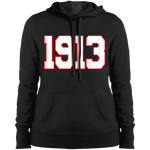 Greek Year 1913 White Hooded Sweatshirt