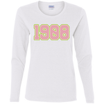 Greek Year 1908 Ladies' Cotton LS T-Shirt