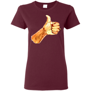 Thumb Up Ladies' 5.3 oz. T-Shirt