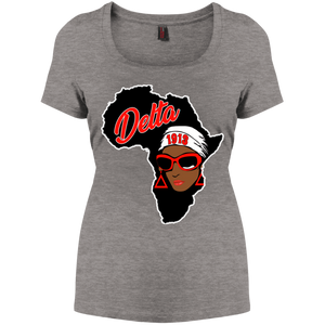 Africa Delta Perfect Scoop Neck Tee