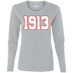 Greek Year 1913 White LS T-Shirt