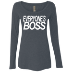 Everyones Boss Ladies' Triblend LS Scoop
