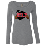 Ripped 1913 Level Ladies' Triblend LS Scoop
