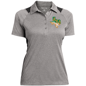 Ladies Heather Moisture Wicking Polo