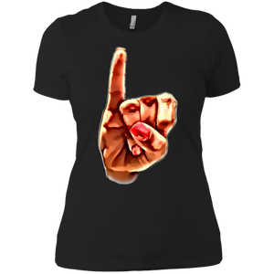 AKA Pinky Up Ladies' Boyfriend T-Shirt
