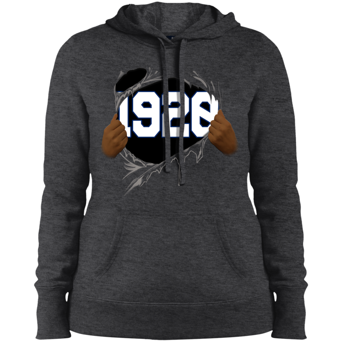 1920 Ripped Hooded Sweatshirt