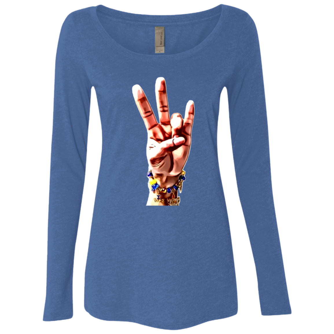 SGRHO Hand Ladies' Triblend LS Scoop