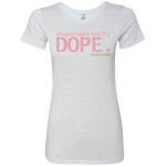 Dope AKA Ladies' Triblend T-Shirt Very Slim Fit- PETITE