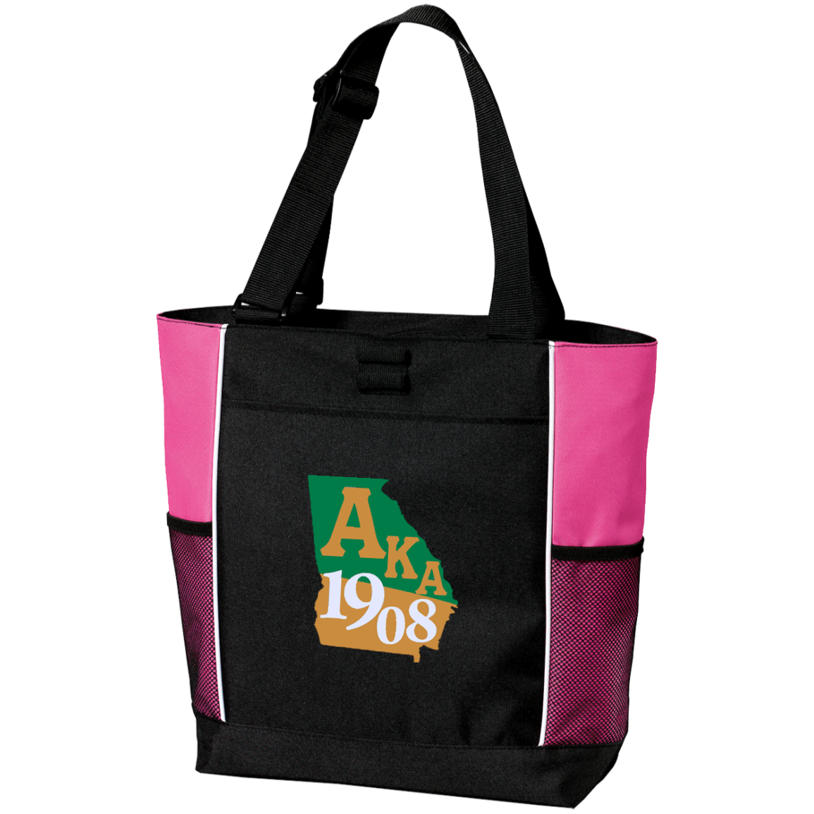 Personalized Colorblock Tote Bag