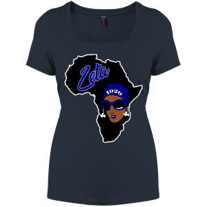 African Zeta Perfect Scoop Neck Tee