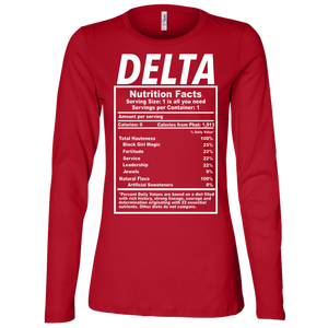 Delta Nutrition Ladies' Jersey LS Missy Fit