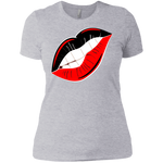 Black And Red Lips  Slim Fit Boyfriend T-Shirt