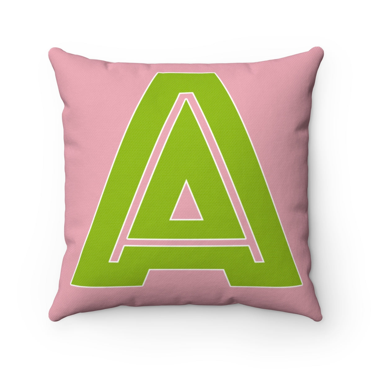 Pink and Green A Pillow