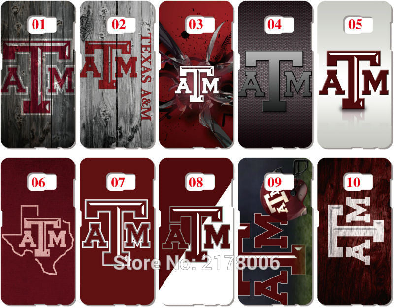 Painting Texas A&M Phone Cover For Samsung Galaxy Core Prime G360 DUOS i9082 S2 S3 S4 S5 Mini S6 S7 Edge Plus Note 2 3 4 5 Case