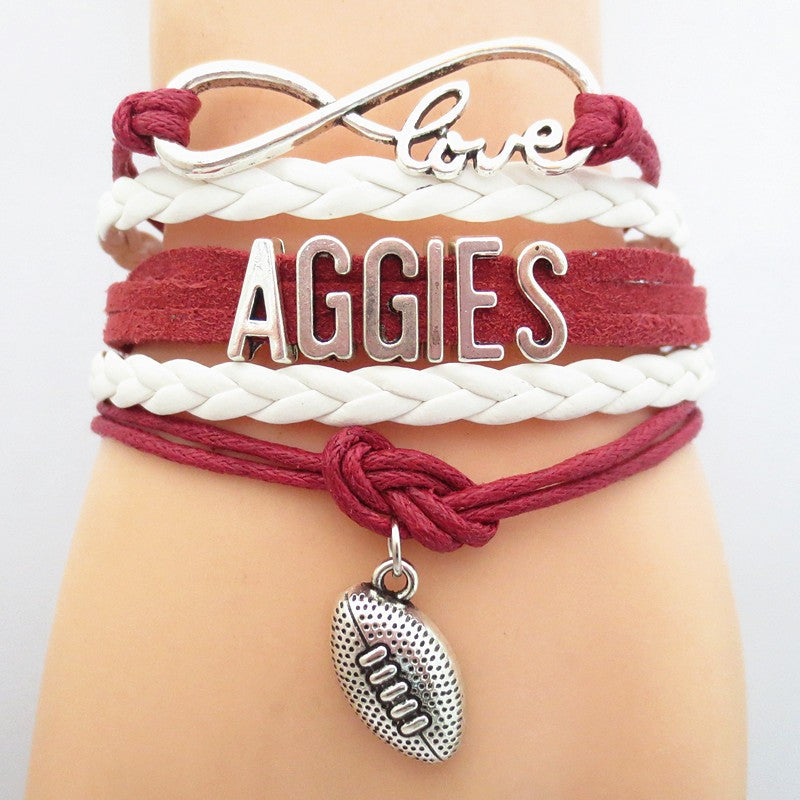 Infinity Love Aggies Football GameDay Bracelet