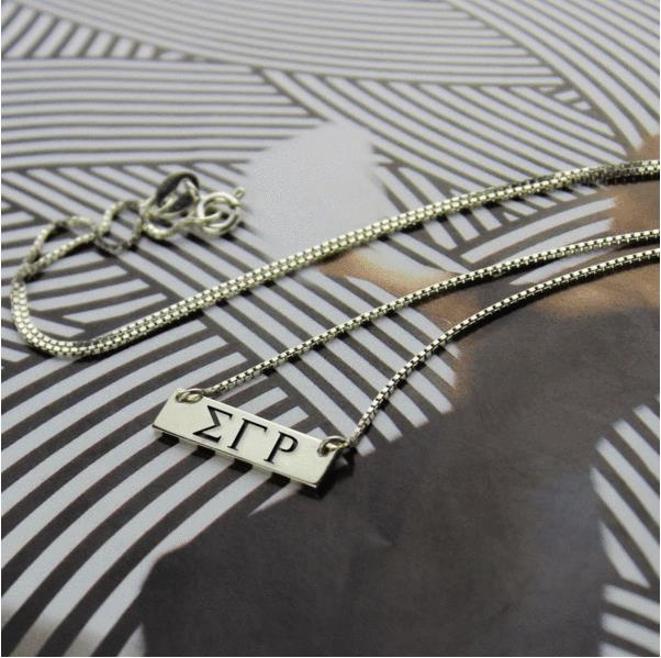 SGRho Stainless Steel Bar Necklace