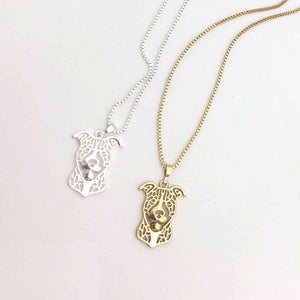 Pitbull pendant Necklace 3D