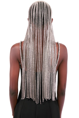 Long Crystal Hairpiece