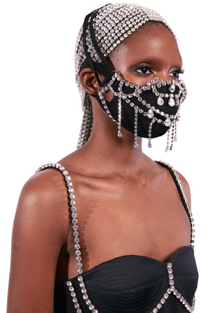 Crystal Teardrop Mask Accessory