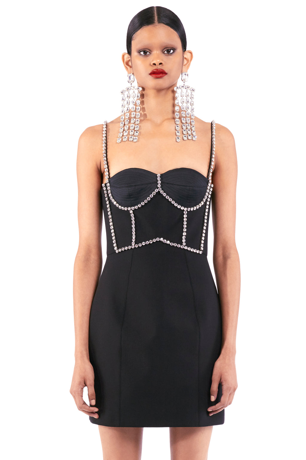 Crystal Stitched Bustier Dress