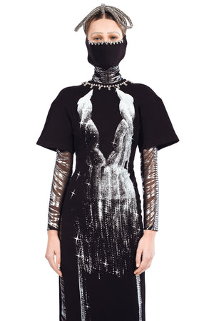 Crystal Print T-Shirt Gown