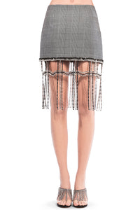 Crystal Plaid Mini Skirt