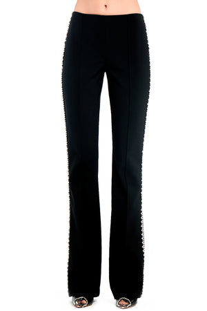 Slim Flair Pant with Crystal Stitch Trim