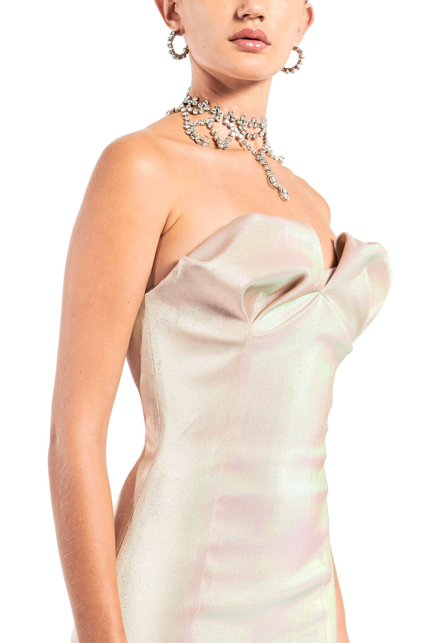 Strapless Sculpted Cup Fitted Dress