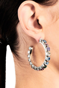 Medium Multi Round Hoop Earrings 2""