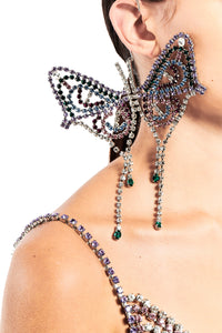 Large Single Butterfly Earring