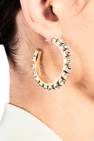 Medium Classic Round Hoops 2""