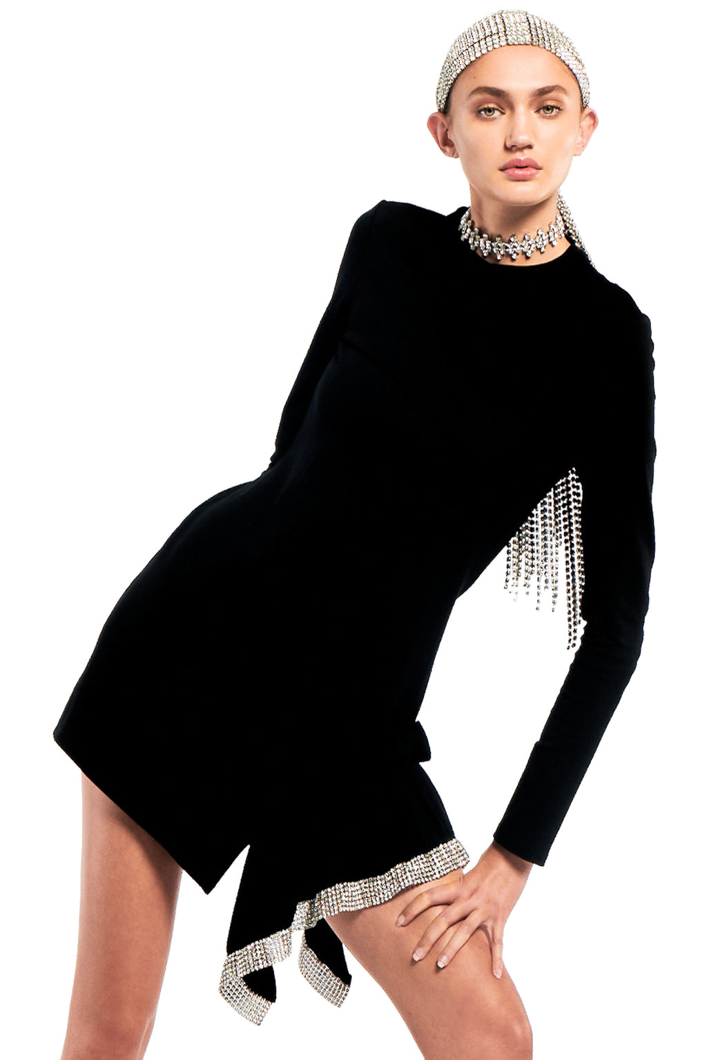 Crystal Peplum T-Shirt Dress