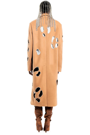 Leopard Cutout Coat