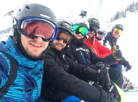 Alex Manzi loves a good ski holiday with his mates