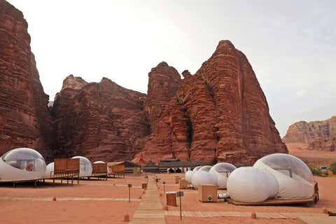 Nicolas Alexander loves these bubble-domed tents in Wadi Rum
