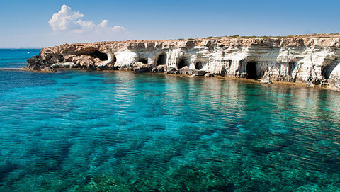 Take your Nomad swim trunks to Cape Greco in Cyprus