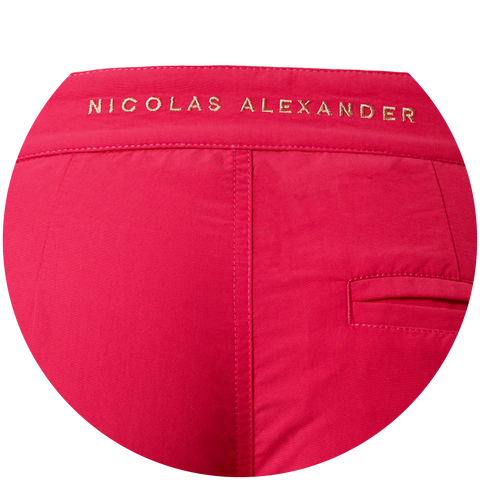 Nicolas Alexander is embroidered onto the back of the Nomad short waistband