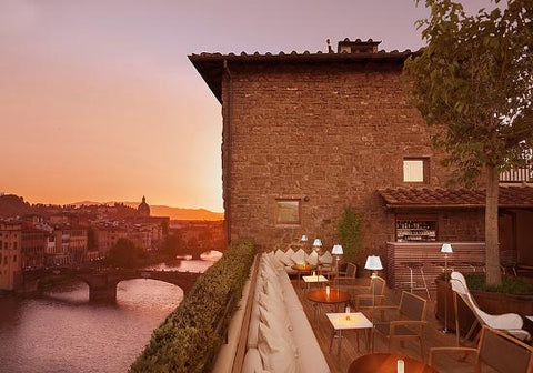 After walking around Florence in your Nicolas Alexander shorts visit La Terrazza for an Aperol spritz
