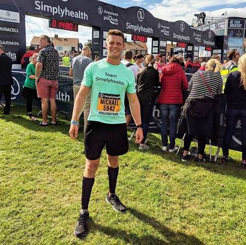 One of Michael's biggest achievements in 2018 was completing his first ever half-marathon