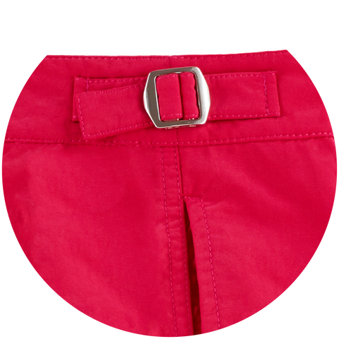 The Nomad beach short comes with water resistant side fasteners