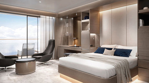 There are 6 stunning suites onboard The Ritz-Carlton Yacht Collection
