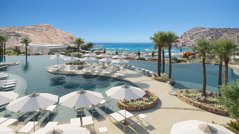 Throw on your Nicolas Alexander swim trunks and take a dip at one of the four pools at Nobu Hotel