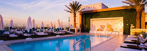 Make sure your pool style is on point if visiting The London West Hollywood rooftop pool this summer