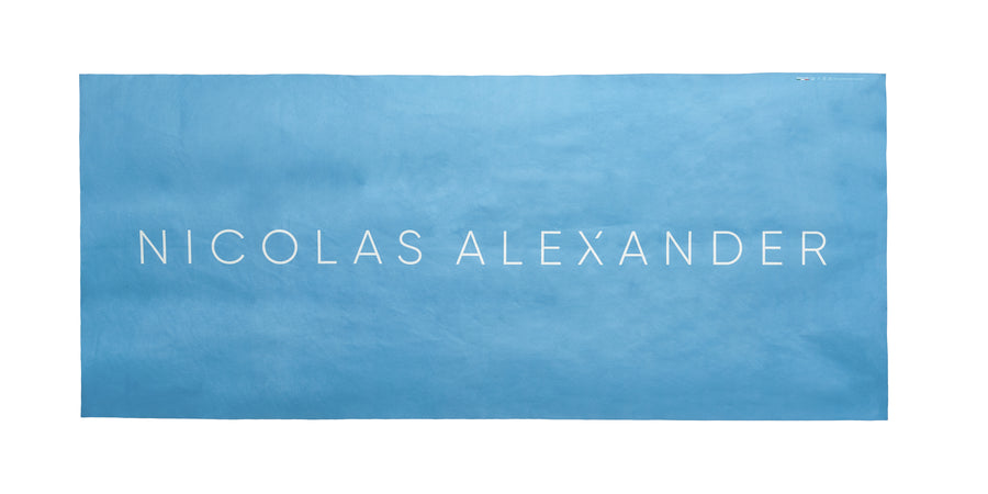 The Nicolas Alexander beach towel is sand repellent even when wet