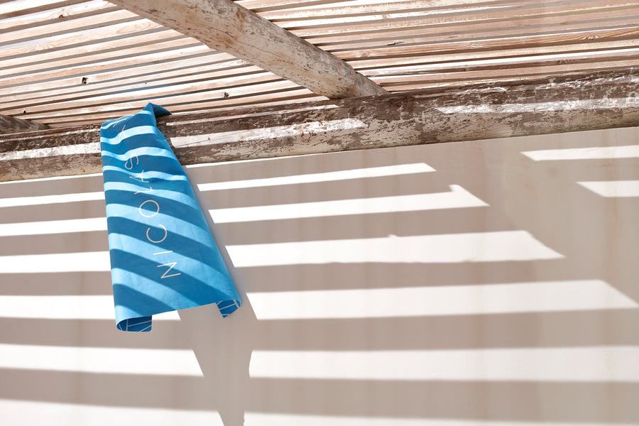 Nicolas Alexander microfibre beach towel is ultra lightweight