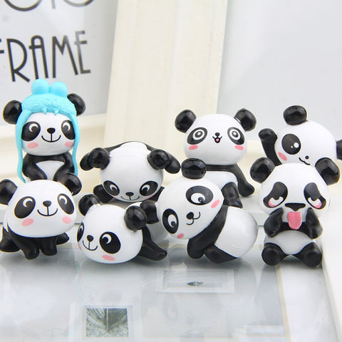 8 Panda Action Party Figures - Freedom Pandas