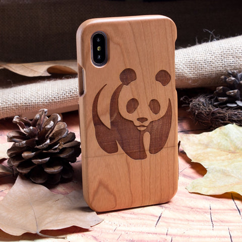 iPhone Wooden Panda Bear Case - Freedom Pandas